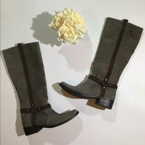Matisse Size 6 M Suede Moto Riding Tall Boots